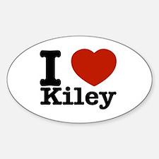 I Love Kiley Sticker (Oval)