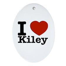 I Love Kiley Ornament (Oval)