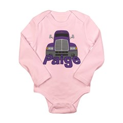 Trucker Paige Long Sleeve Infant Bodysuit