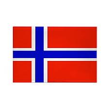 Norway Norwegian Blank Flag Rectangle Magnet (10 p