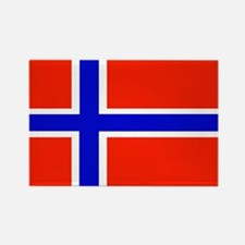 Norway Norwegian Blank Flag Rectangle Magnet