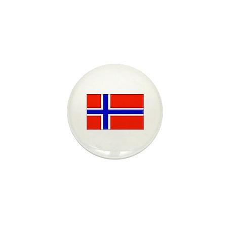 Norway Norwegian Blank Flag Mini Button