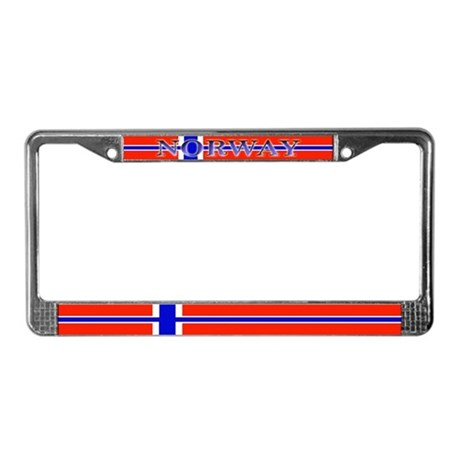 Norway Norwegian Blank Flag License Plate Frame