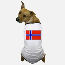 Norway Norwegian Blank Flag Dog T-Shirt