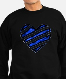 Blue stripes Heart Sweatshirt (dark)