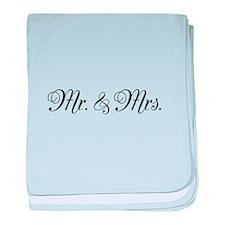 Mr. Mrs. baby blanket