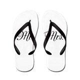 Bride and groom honeymoon Flip Flops