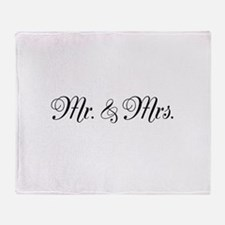 Mr. Mrs. Throw Blanket