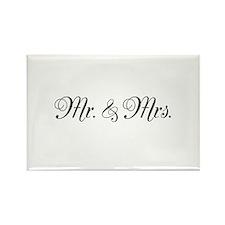 Mr. Mrs. Rectangle Magnet