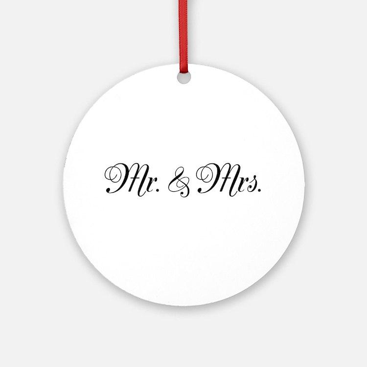Mr. Mrs. Ornament (Round)