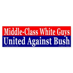White Guys Against Bush Bumper Bumper Sticker
