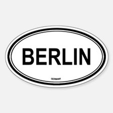 Berlin, Germany euro Oval Decal