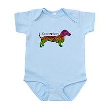 Dachshund - Crazy Love Infant Bodysuit