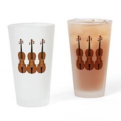 Three Violins Drinking Glass