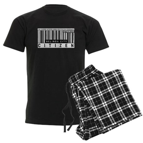 Belinda City, Citizen Barcode, Men's Dark Pajamas