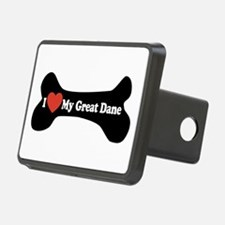 I Love My Great Dane - Dog Bone Hitch Cover