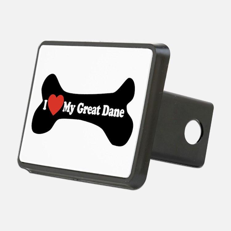 I Love My Great Dane - Dog Bone Hitch Cover