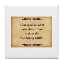 Clear Your Mind Tile Coaster