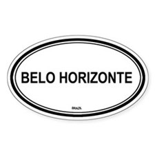 Belo Horizonte, Brazil euro Oval Decal