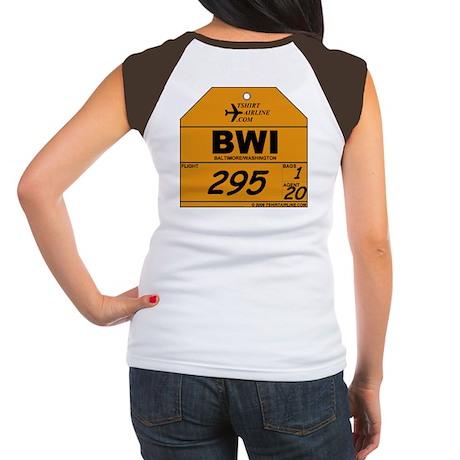 BWI - Baltimore / Washington Women's Cap Sleeve T-