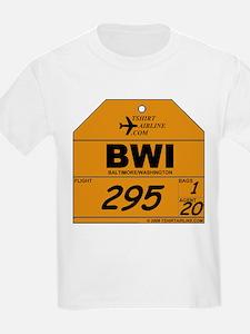 BWI - Baltimore / Washington Kids T-Shirt