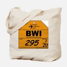 BWI - Baltimore / Washington Bag Tag Tote Bag