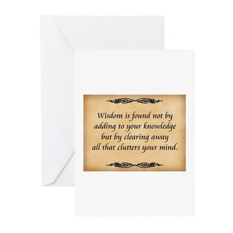 Wisdom Is Found Greeting Cards (Pk of 10)