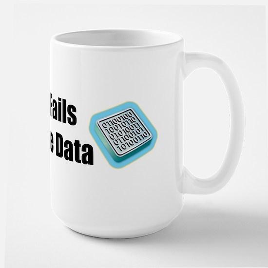 Manipulate the Data Large Mug