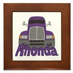 Trucker Rhonda Framed Tile