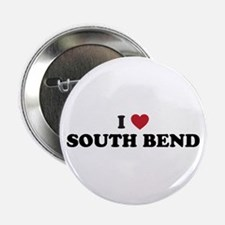 """I Love South Bend Indiana 2.25"""" Button"""