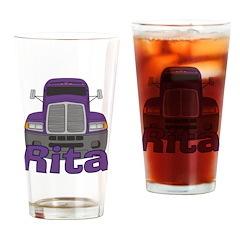 Trucker Rita Drinking Glass
