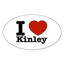 I Love Kinley Decal