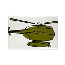 Helicopter8 Rectangle Magnet (100 pack)