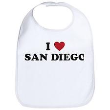 I Love San Diego California Bib
