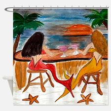 Martini Mermaids Shower Curtain
