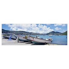 Fishing Boats St Thomas US Virgin Islands Poster