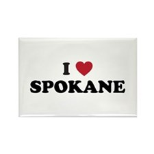 I Love Spokane Washington Rectangle Magnet