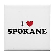 I Love Spokane Washington Tile Coaster