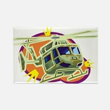 Helicopter9 Rectangle Magnet (100 pack)