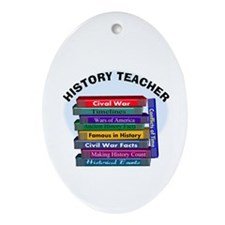 hISTORY TEACHER.PNG Ornament (Oval)