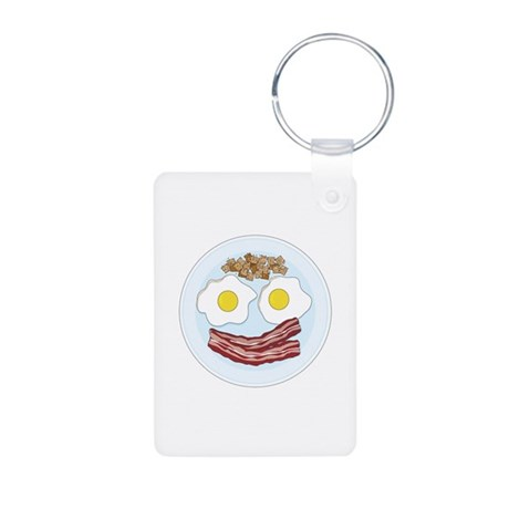 Bacon and Eggs Aluminum Photo Keychain