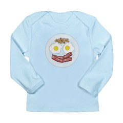 Bacon and Eggs Long Sleeve Infant T-Shirt