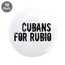 "Cubans For Rubio 3.5"" Button (10 pack)"