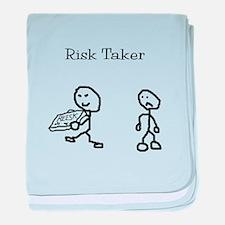 Risk Taker baby blanket