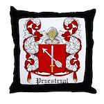 Przestrzal Coat of Arms Throw Pillow