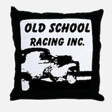 AFTM Old School Racing Inc Throw Pillow