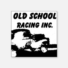 "AFTM Old School Racing Inc Square Sticker 3"" x 3"""