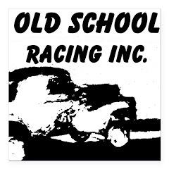 AFTM Old School Racing Inc Square Car Magnet 3