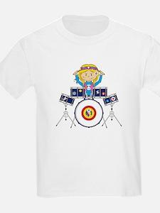 Hippie Girl Drummer T-Shirt