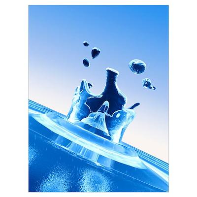 Water drop impact Poster